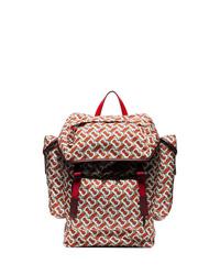 roter bedruckter Rucksack von Burberry