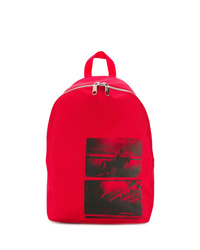 roter bedruckter Rucksack von Calvin Klein Jeans