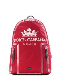 roter bedruckter Rucksack von Dolce & Gabbana