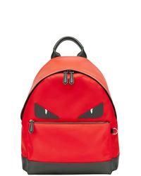 roter bedruckter Rucksack von Fendi