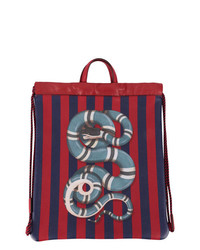 roter bedruckter Rucksack von Gucci