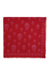 roter bedruckter Schal von Alexander McQueen