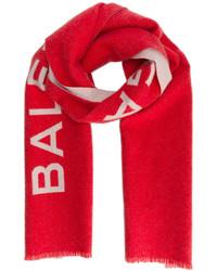 roter bedruckter Schal von Balenciaga