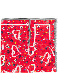 roter bedruckter Schal von Marc Jacobs