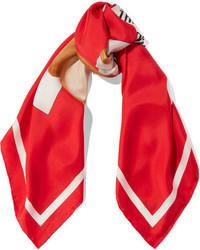 roter bedruckter Schal von Moschino