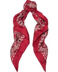 roter bedruckter Schal von Saint Laurent