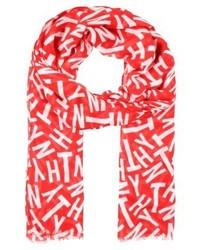 roter bedruckter Schal von Tommy Hilfiger