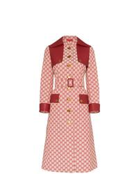 roter bedruckter Trenchcoat von Gucci