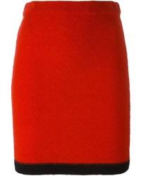 roter Bleistiftrock von Moschino