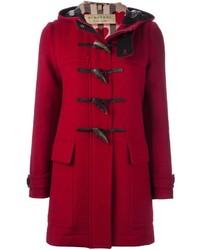 Roter Düffelmantel von Burberry