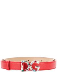 roter Gürtel von Dolce & Gabbana
