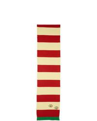 roter horizontal gestreifter Schal von Gucci