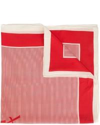 roter horizontal gestreifter Seideschal von Saint Laurent