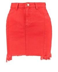 Roter Jeans Minirock von New Look