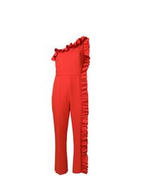 roter Jumpsuit mit Rüschen von MSGM