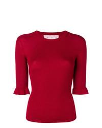 roter Kurzarmpullover von RED Valentino