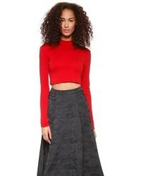 roter kurzer Pullover von Alice + Olivia
