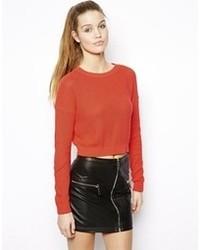 roter kurzer Pullover von Asos