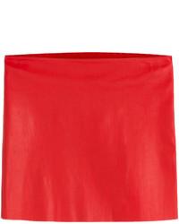 Roter Leder Minirock