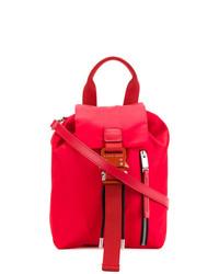 roter Leder Rucksack von Alyx