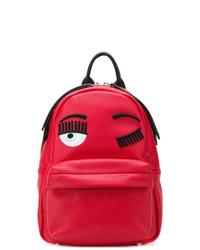 roter Leder Rucksack von Chiara Ferragni
