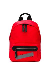 roter Leder Rucksack von Lanvin