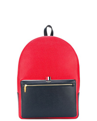 roter Leder Rucksack von Thom Browne