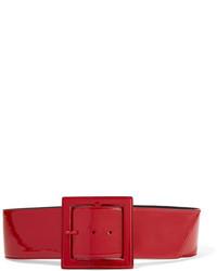 roter Leder Taillengürtel von Saint Laurent