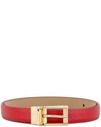 roter Ledergürtel von Dolce & Gabbana