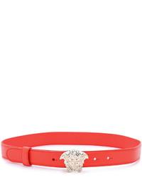 roter Ledergürtel von Versace