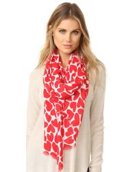 roter leichter Schal von Kate Spade