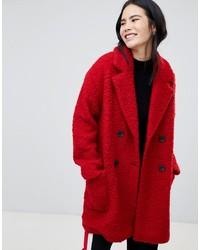 Roter mantel bershka