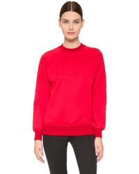 roter Oversize Pullover von Versace
