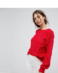 roter Oversize Pullover von Vila
