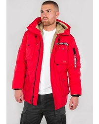 roter Parka von Alpha Industries