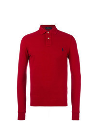 roter Polo Pullover