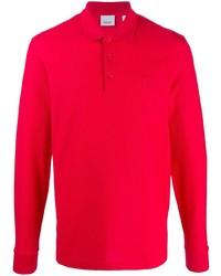 roter Polo Pullover von Burberry