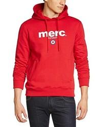 roter Pullover mit einem Kapuze von Merc of London