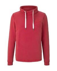 roter Pullover mit einem Kapuze von Tom Tailor