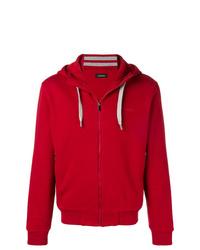 roter Pullover mit einem Kapuze von Z Zegna