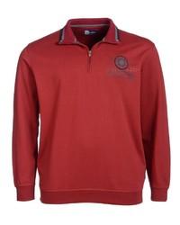 roter Pullover mit einem Reißverschluss am Kragen von Big fashion