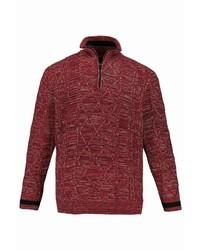 roter Pullover mit einem Reißverschluss am Kragen von JP1880