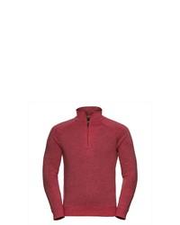 roter Pullover mit einem Reißverschluss am Kragen von Russell