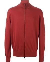 roter Pullover mit einem Reißverschluß
