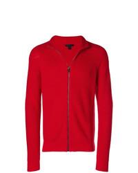 roter Pullover mit einem Reißverschluß von Belstaff