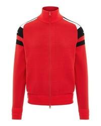 roter Pullover mit einem Reißverschluß von J. Lindeberg