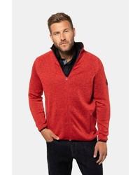 roter Pullover mit einem Reißverschluß von JP1880