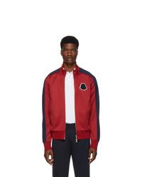 roter Pullover mit einem Reißverschluß von Moncler