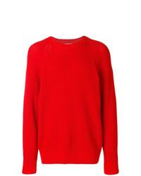 roter Pullover mit einem Rundhalsausschnitt von AMI Alexandre Mattiussi