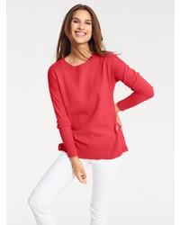 roter Pullover mit einem Rundhalsausschnitt von B.C. BEST CONNECTIONS by Heine